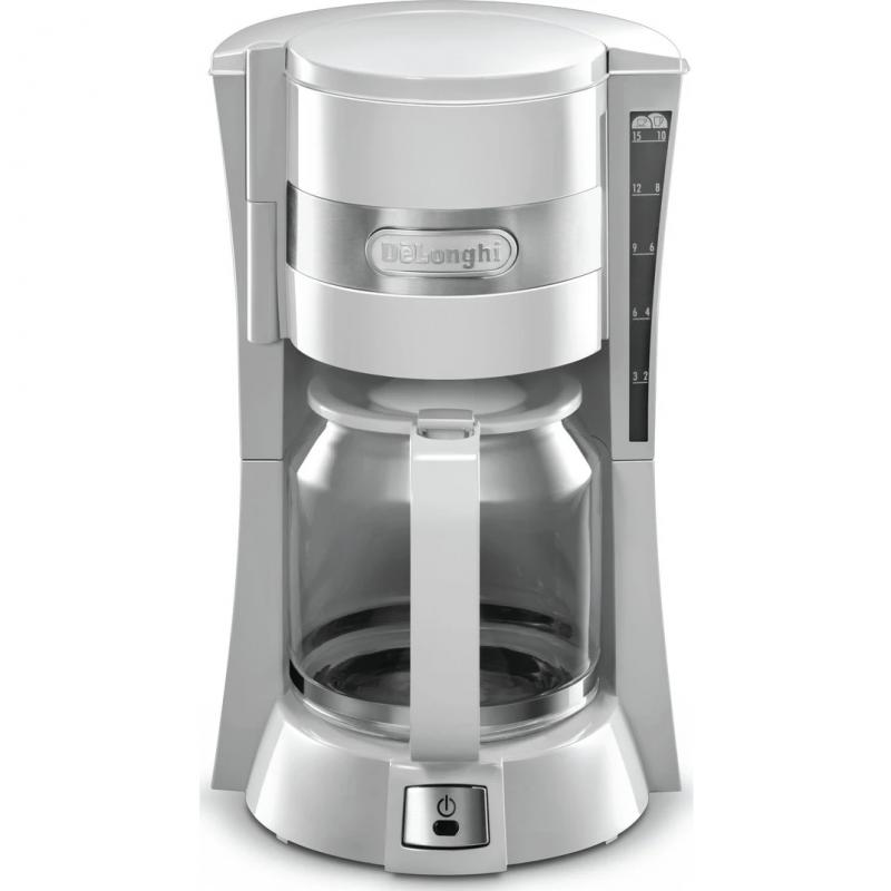 Кофеварка Delonghi ICM 15210.1W капельного типа, белый
