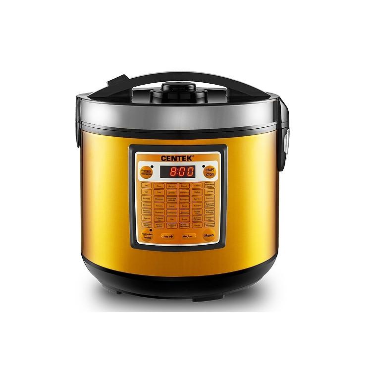 Мультиварка Centek CT-1495 черный-золото