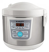 Мультиварка Scarlett SC-MC410S20 серебристый/белый