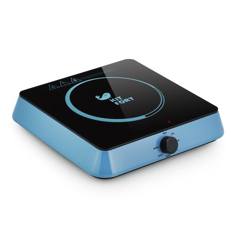 Плитка электрическая Kitfort КТ-113-1 индукционная, голубой (Уценка - У1)