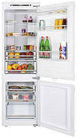 Холодильник встраиваемый двухкамерный с системой NoFrost MAUNFELD MBF177NFW