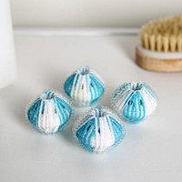 Набор шаров для стирки ДОЛЯНА, набор 4 шт, d=3,3 см, цвет микс