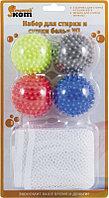 Набор для стирки и сушки белья РЫЖИЙ КОТ, WL: 4 шарика для стирки и сушки WB*4 и мешок для стирки WMB-002