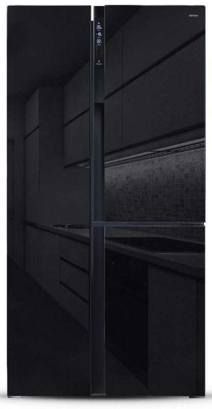 Холодильник Side by Side Ginzzu NFK-475, SbS черный