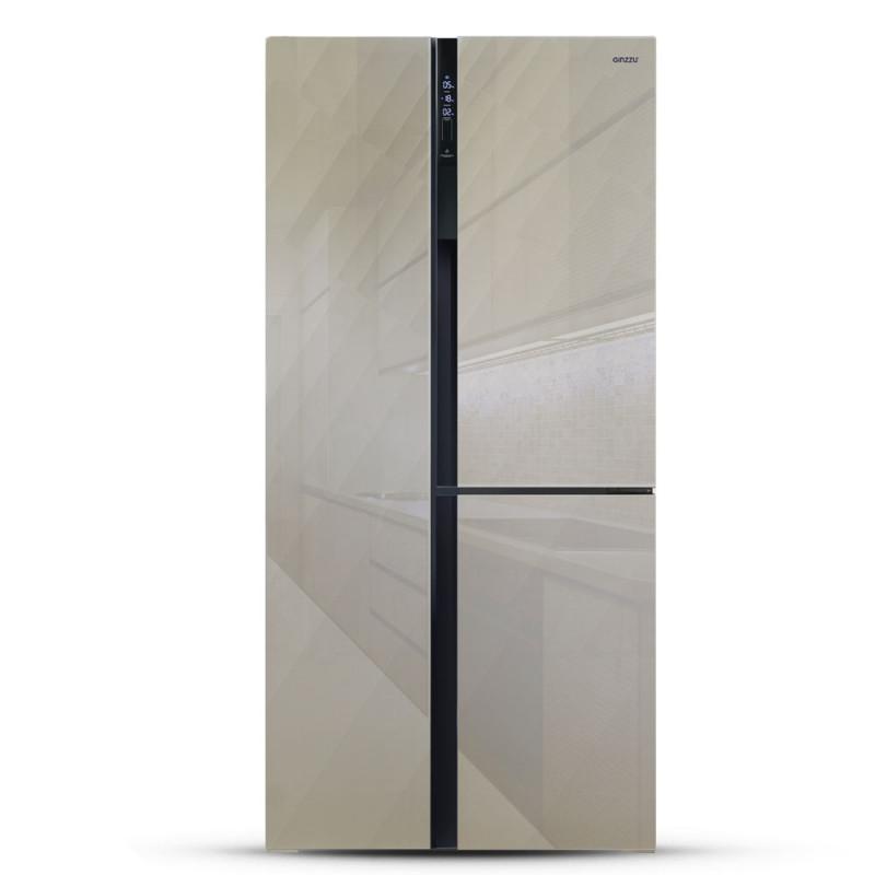 Холодильник Ginzzu NFK-610 шампань стекло
