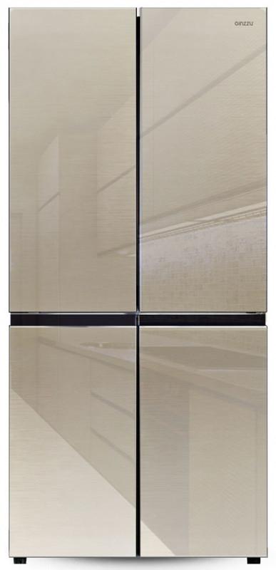 Холодильник Ginzzu NFK-525 шампань стекло