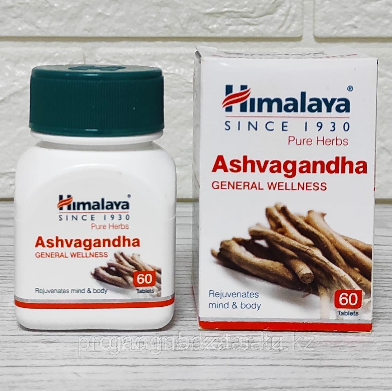 Ашваганда для энергии, иммунитета, при импотенции, мужском бесплодии, 60 таб