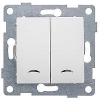 GUSI Ugra МЕХАНИЗМ Выкл. 2кл. (инд), скрытая установка, 10А, 250В. Цвет: белый.