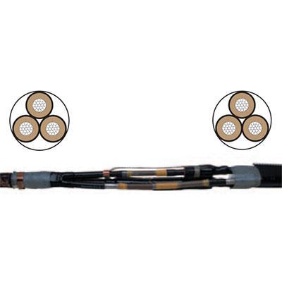 Соединительные муфты д/З-х жильных кабелей с бумажной изоляцией в общей оболочке на напряжение 6,10 кВ. 70-120