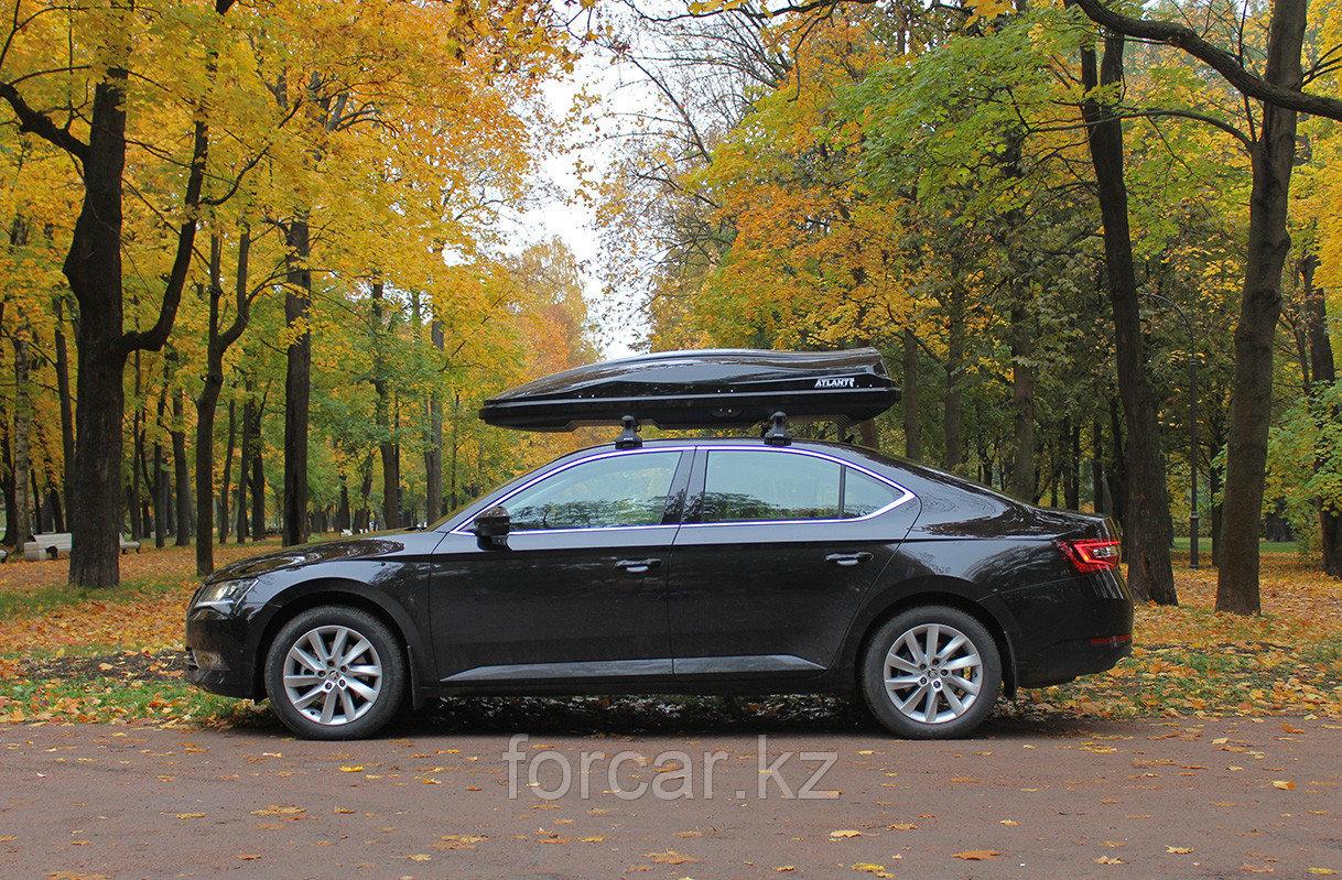 Автобокс Diamond 500 черный матовый 220x80x44 с двусторонним открыванием - фото 5