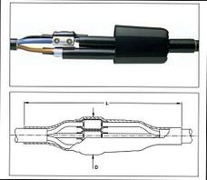 Соединительные муфты для 3-,  4- и 5- жильных кабелей с пластмассовой изоляцией, с броней или без брони.