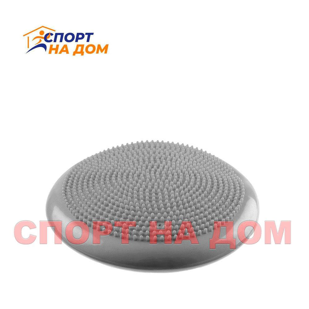 Балансировочная массажная подушка (цвет серый)