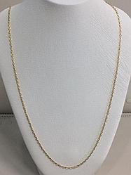 Золотая цепочка 60 см / жёлтое золото