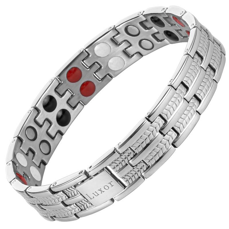 Магнитный браслет Бизнес Стандарт серебристый