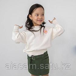 Джинсовая юбка цвета ХАКИ детская
