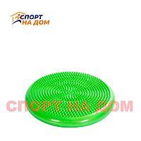 Балансировочная массажная подушка (цвет зелёный)