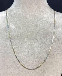 Цепь - 50 см / жёлто- белое золото