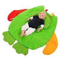 Развивающий коврик iBaby Сова с подушкой зеленый