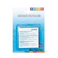 INTEX Ремонтный набор Repair Patches 7 х 7 см х 6шт., INTEX, 59631NP, Винил, 14+, Водостойкий, Прозрачный,