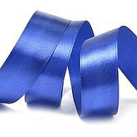 Атласная лента Синий 4см*23m