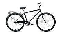 """Велосипед FORWARD DORTMUND 28 1.0 (28"""" 1 ск. рост 19"""") 2020-2021, черный/серебристый"""