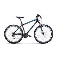 """Велосипед FORWARD SPORTING 27,5 1.2 (27,5"""" 21 ск. рост 17"""") 2020-2021, черный/бирюзовый, фото 1"""