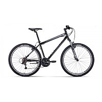 """Велосипед FORWARD SPORTING 27,5 1.2 (27,5"""" 21 ск. рост 17"""") 2020-2021, черный/серебристый, фото 1"""