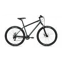 """Велосипед FORWARD SPORTING 27,5 2.2 disc (27,5"""" 8 ск. рост 17"""") 2020-2021, темно-серый/черный, фото 1"""