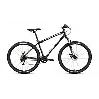 """Велосипед FORWARD SPORTING 27,5 2.2 disc (27,5"""" 8 ск. рост 17"""") 2020-2021, черный/белый, фото 1"""