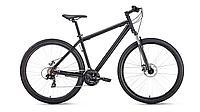 """Велосипед FORWARD SPORTING 29 2.1 disc (29"""" 21 ск. рост 17"""") 2020-2021, черный матовый/черный"""