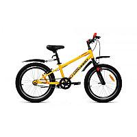 """Велосипед FORWARD UNIT 20 1.0 (20"""" 1 ск. рост 10.5"""") 2020-2021, желтый"""