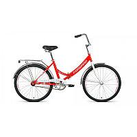 """Велосипед FORWARD VALENCIA 24 1.0 (24"""" 1 ск. рост 16"""" скл.) 2020-2021, красный/серый, фото 1"""