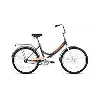 """Велосипед FORWARD VALENCIA 24 1.0 (24"""" 1 ск. рост 16"""" скл.) 2020-2021, темно-серый/бежевый, фото 1"""