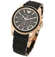 Часы наручные Emporio Armani Sportivo AR5905 с календарем [HQ реплика] (Черный)
