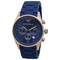 Часы наручные Emporio Armani Sportivo AR5905 с календарем [HQ реплика] (Синий)