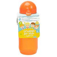 Wowbottles Бутылочка для воды с трубочкой, 400 мл, цвета в ассортименте, 12шт -