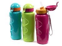 """Wowbottles Бутылка для воды и других напитков с трубочкой """"LIFESTYLE"""" со шнурком, 500 ml. anatomic,"""