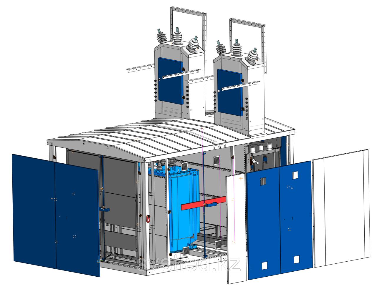 Комплектная трансформаторная подстанция в утепленной оболочке из сэндвич панелей