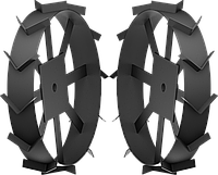 ЗУБР ГР-600 грунтозацепы для мотоблоков, 600х130 мм, набор 2 шт