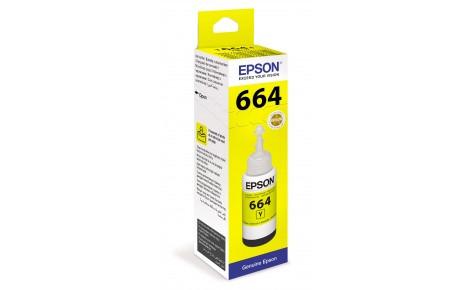 Чернила Epson C13T66444A L100/110/120/1300/132/200/210/222/300/312/350/355/362/366/456/550/555/566 желтый
