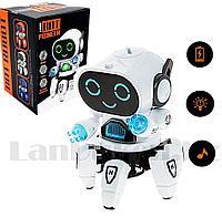 Игрушка робот на батарейках музыкальный танцующий со светомузыкой ZR142-1 белый