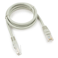 Патч-корд медный UTP Cablexpert PP10-1M кат.5e, 1м, литой, многожильный (серый)