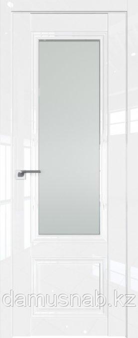 Дверь межкомнатная Белый люкс 2.103L  ст. графит