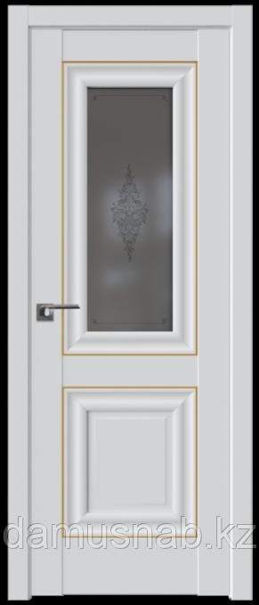 ProfilDoors Дверь межкомнатная Магнолия сатинат  28U 2000*800 золото ст. кристалл графит