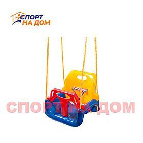 Качели детские, навесные KETT-UP, цвет синий/желтый/красный
