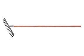 Грабли с деревянным черенком, стальные, покрытые эпоксидом LUXE