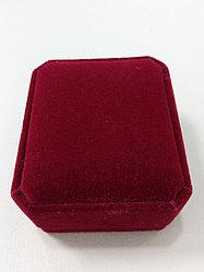Футляр для серег и комплекта / бордовый бархат
