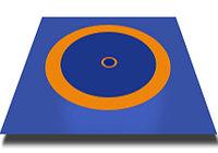 Борцовский ковер трехцветный 10х10м с покрышкой, толщина 5 см