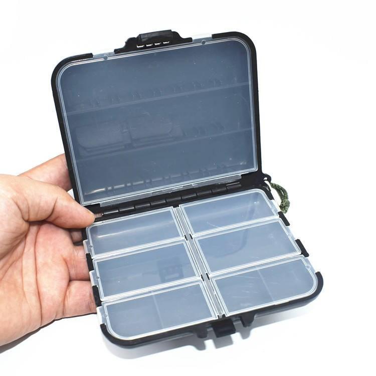 Ящик для рыболовных снастей 12х9,7х3 см черный - фото 1