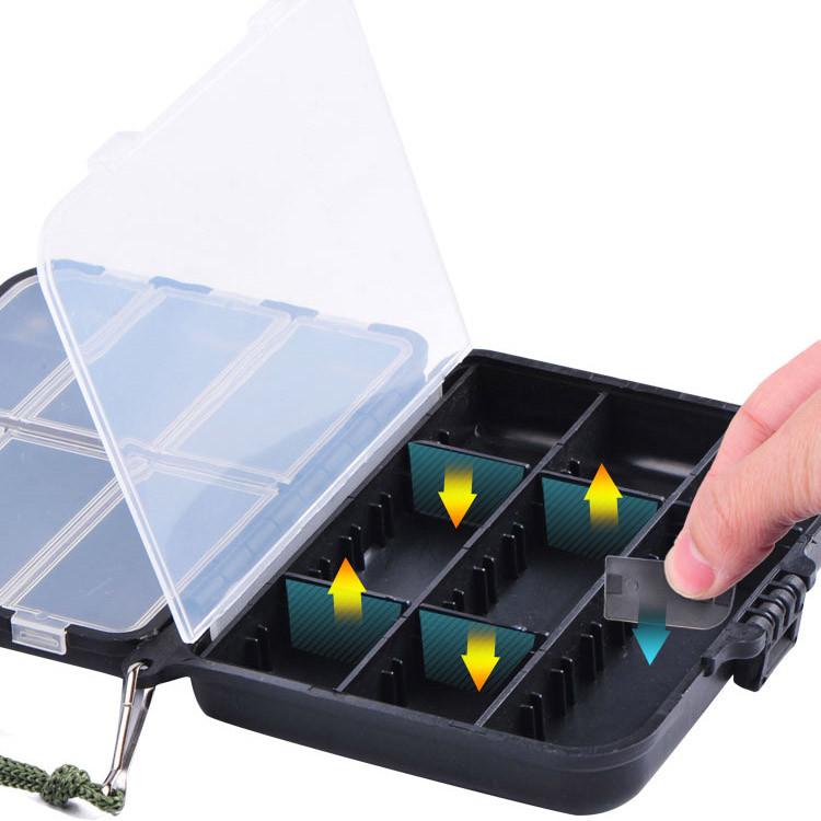 Ящик для рыболовных снастей 12х9,7х3 см черный - фото 7